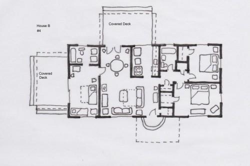 Floor plan home b desert oak stargazer vacation rentals for Compound home plans